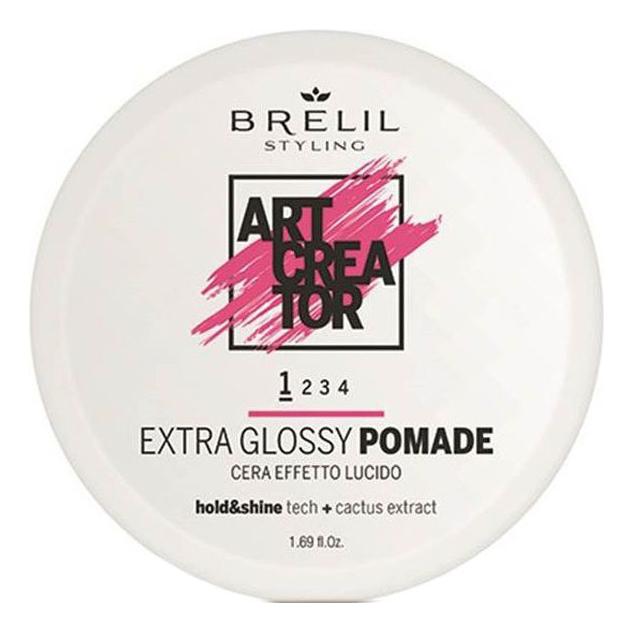 Помада для волос Экстра-блеск Art Creator Extra Glossy Pomade 50мл, Brelil Professional  - Купить