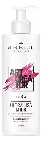 Разглаживающее молочко для волос Art Creator Ultra Liss Milk 200мл косметический набор для волос bb one ultra liss 360
