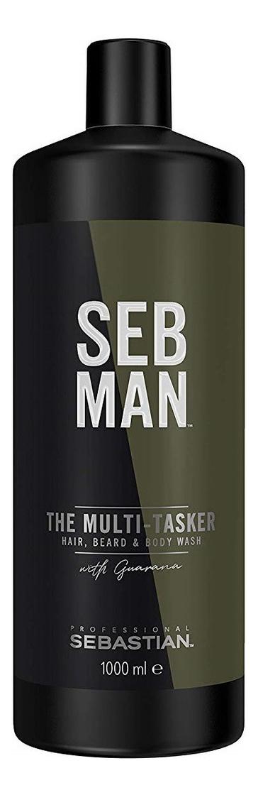 Купить Шампунь для ухода за волосами, бородой и телом Seb Man The Multi-Tasker Hair, Beard & Body Wash: Шампунь 1000мл, Beard & Body Wash, Sebastian