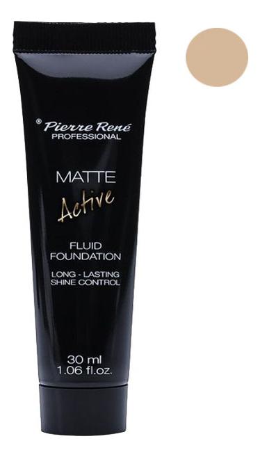 Купить Матирующая тональная основа Matte Active Fluid Foundation 30мл: NEW01 Champagne, Pierre Rene