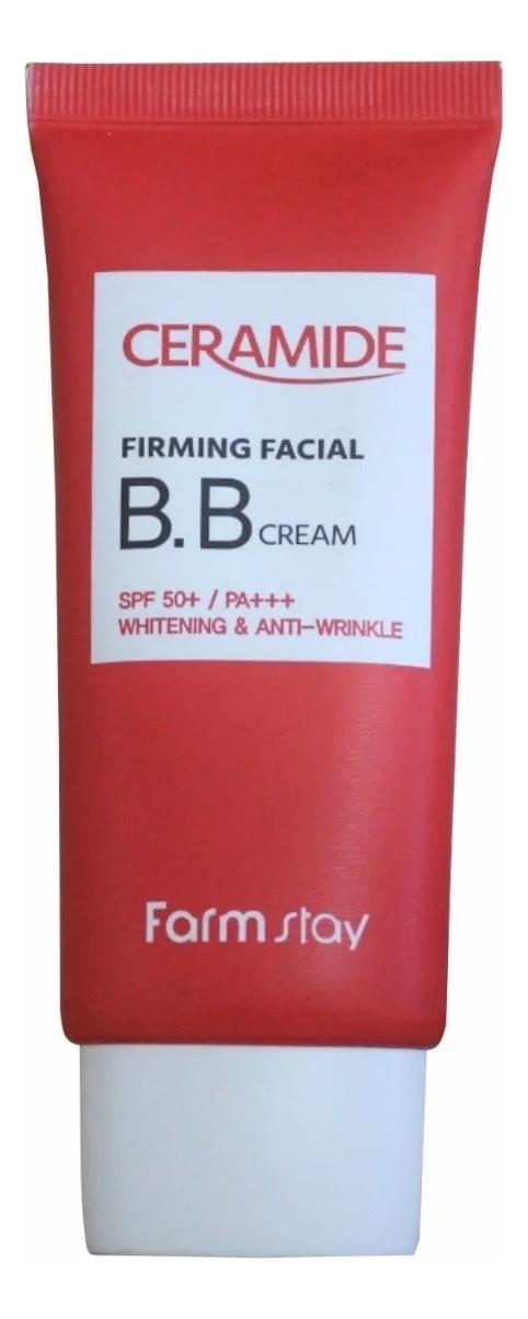 Купить BB крем для лица с керамидами Ceramide Firming Facial Cream SPF50+ PA+++ 50г, Farm Stay