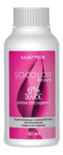 Крем-оксидант для окрашивания волос Socolor Beauty 60мл: 6%