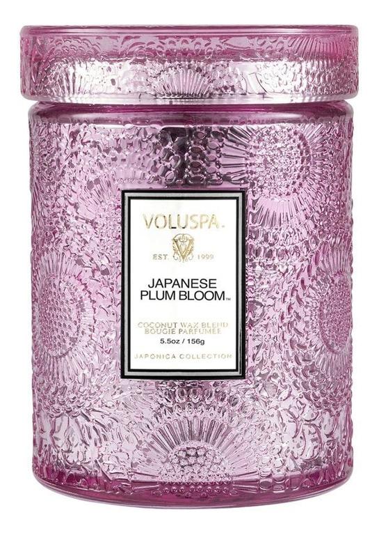 Ароматическая свеча Japanese Plum Bloom (японская слива): свеча в маленьком стеклянном подсвечнике 156г ароматическая свеча perse bloom пион жасмин и мимоза свеча в стеклянном подсвечнике с крышкой 312г