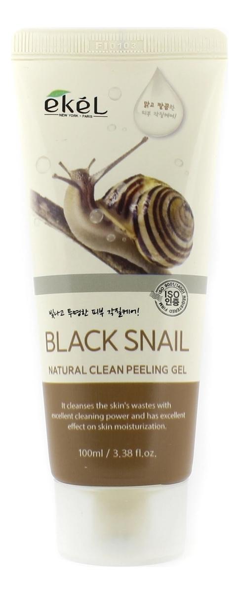 Пилинг-скатка для лица с муцином чёрной улитки Black Snail Natural Clean Peeling Gel 100мл steblanc black snail repair крем для лица с муцином чёрной улитки black snail repair крем для лица с муцином чёрной улитки