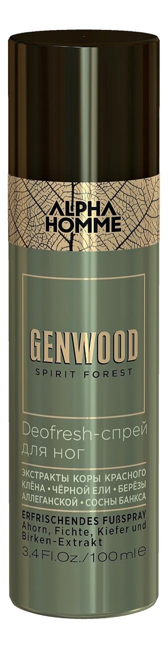 Спрей для ног Alpha Homme Genwood Deofresh 100мл гель крем для лица alpha homme genwood hydro 50мл