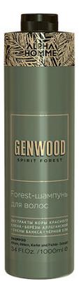 Шампунь для волос с экстрактом коры красного клена Alpha Homme Genwood Forest: Шампунь 1000мл гель крем для лица alpha homme genwood hydro 50мл