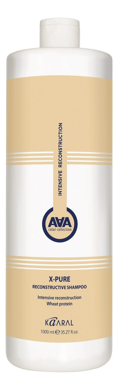 Восстанавливающий шампунь для волос с пшеничными протеинами X-Form Pure Reconstructing Shampoo: Шампунь 1000мл фото