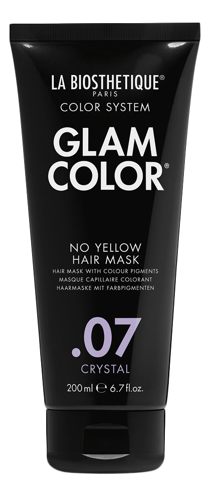 Тонирующая маска для волос Glam Color No Yellow Hair Mask .07 Crystal 200мл