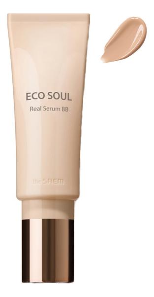 BB крем для лица Eco Soul Real Serum SPF42 PA+++ 40мл: 21 Light Beige the saem eco soul bb крем real cover 45 гр оттенок 23 natural beige