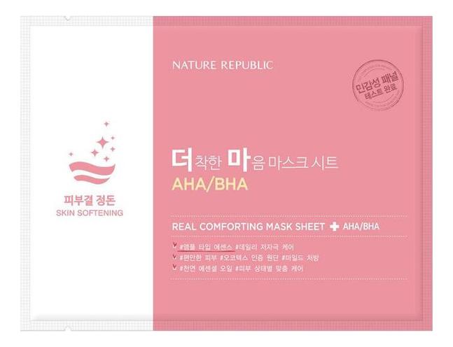 Тканевая маска для лица Real Comforting Mask Sheet AHA/BHA 24мл