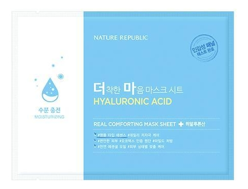 Купить Тканевая маска для лица Real Comforting Mask Sheet Hyaluronic Acid 24мл, Nature Republic