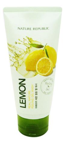 Пилинг-гель для лица с экстрактом лимона Real Nature Lemon Peeling Gel Wash 120мл