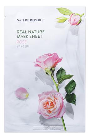Тканевая маска для лица с экстрактом розы Real Nature Mask Sheet Rose 23г