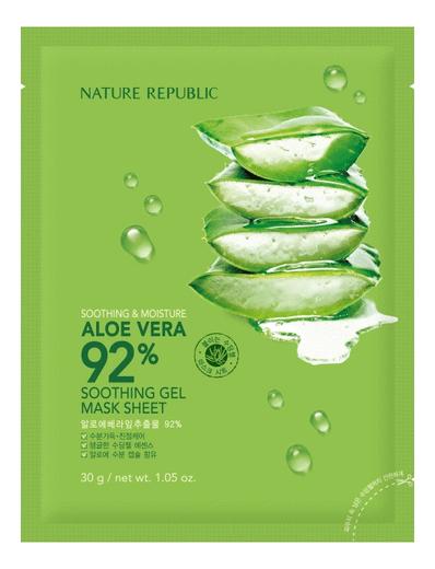 Увлажняющая маска с экстрактом алоэ вера Soothing & Moisture Aloe Vera 92% Gel Mask Sheet 30г