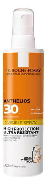 Фото - Невидимый спрей для лица и тела Anthelios Invisible Spray SPF30 200мл la roche posay anthelios солнцезащитный невидимый спрей spf 50 200 мл