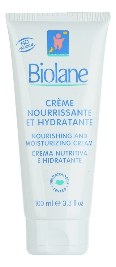 Купить Детский питательный и увлажняющий крем для лица и тела Creme Nourrissante 100мл: Крем 100мл, Biolane