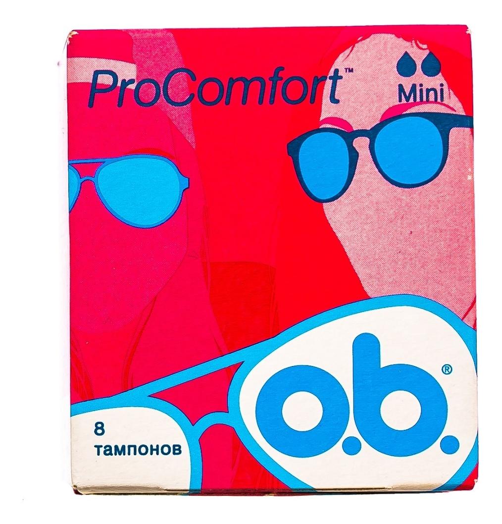 Тампоны гигиенические ProComfort Mini: Тампоны 8шт тампоны гигиенические с аппликатором compak regular тампоны 8шт