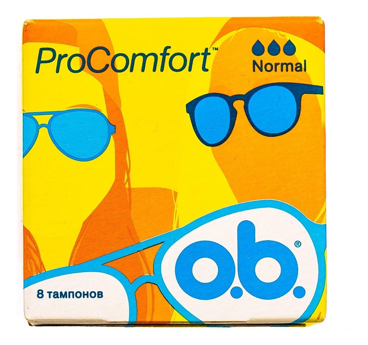 Купить Тампоны гигиенические ProComfort Normal: Тампоны 8шт, o.b.