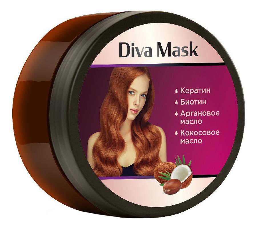 Фото - Восстанавливающая и стимулирующая рост волос маска для с кератином и арганой 200мл маска для волос восстанавливающая bio traitement reconstruction mask 200мл