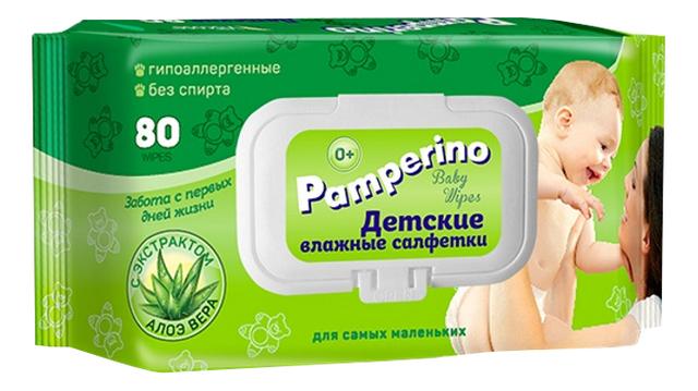 Детские влажные салфетки с экстрактом алоэ вера Baby Wipes With Aloe Vera: Салфетки 80шт (с пластиковым клапаном)