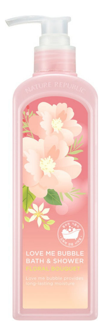 Гель-пена для душа Love Me Bubble Bath & Shower Gel Floral Bouquet 400мл гель пена для душа love me bubble bath