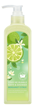 Гель-пена для душа Love Me Bubble Bath & Shower Gel Bergamot Citrus 400мл