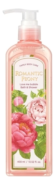 Гель-пена для душа Love Me Bubble Bath & Shower Gel Romantic Peony 400мл лосьон для тела love me bubble body lotion romantic peony 400мл