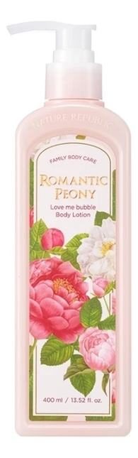 цена Лосьон для тела Love Me Bubble Body Lotion Romantic Peony 400мл онлайн в 2017 году