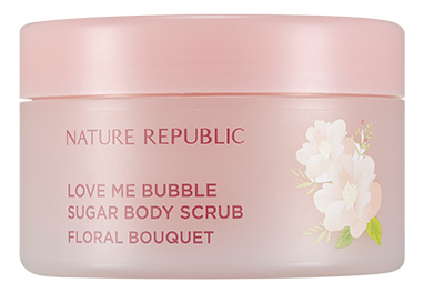 цена Скраб для тела Love Me Bubble Sugar Body Scrub Floral Bouquet 250мл онлайн в 2017 году