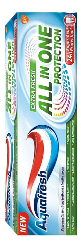 Купить Зубная паста All-in-One Protection Extra Fresh 75мл, Aquafresh