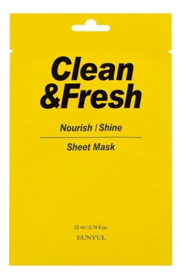 Купить Тканевая маска для питания и сияния кожи лица Clean & Fresh Nourish Shine Sheet Mask 22мл: Маска 3шт, Тканевая маска для питания и сияния кожи лица Clean & Fresh Nourish Shine Sheet Mask 22мл, EUNYUL