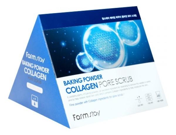 Купить Скраб для лица Baking Powder Collagen Pore Scrub: Скраб 25*7г, Farm Stay