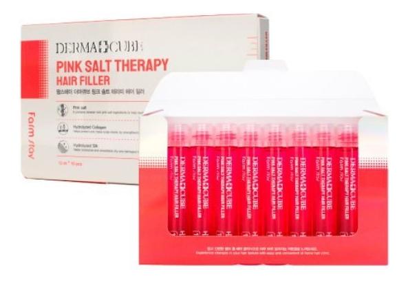 Укрепляющий филлер для волос с розовой солью Derma Cube Pink Salt Therapy Hair Filler: Филлер 10*13мл купить филлер сурджидерм