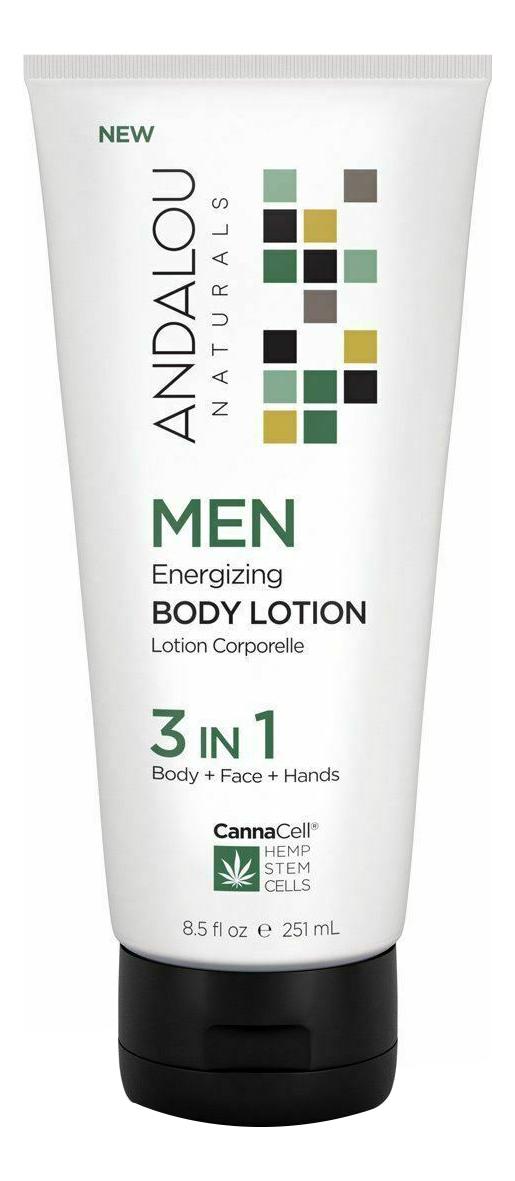 Купить Лосьон для тела 3 в 1 Canna Cell Men Energizing Body Lotion 251мл, Andalou Naturals