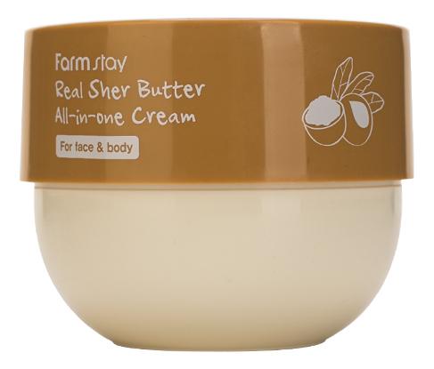 Универсальный питательный крем для лица и тела с маслом ши Real Shea Butter All-In-One Cream 300мл cantu shea butter leave in conditioning repair cream 453g
