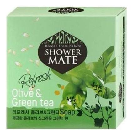 Мыло Shower Mate Olive & Green Tea 100г