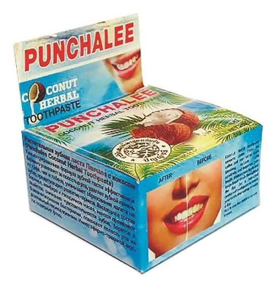 Купить Зубная паста с экстрактом кокоса Coconut Herbal Toothpaste: Зубная паста 25г, Punchalee