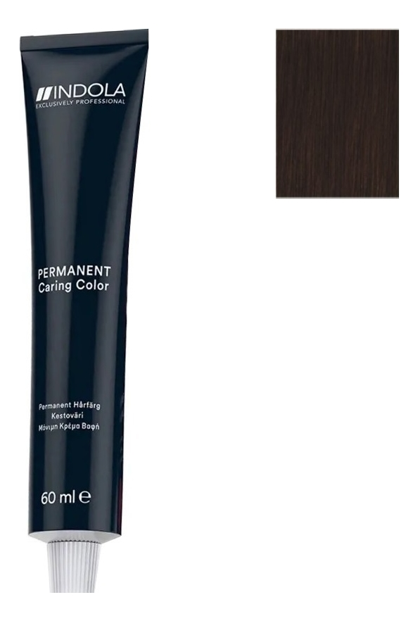 Стойкая крем-краска для волос Permanent Caring Color 60мл: 5.8 Светлый коричневый шоколадный стойкая крем краска для волос permanent caring color 60мл 5 35 светлый коричневый золотистый махагон