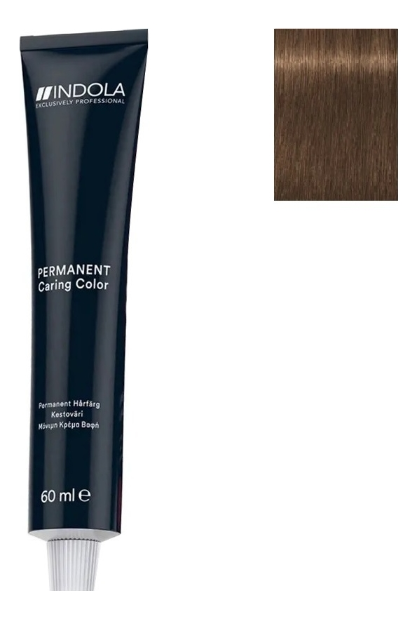 Стойкая крем-краска для волос Permanent Caring Color 60мл: 7.8 Средний русый шоколадный стойкая крем краска для волос permanent caring color 60мл 7 35 средний русый золотистый махагон