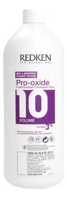 Крем-проявитель для краски и осветлительных препаратов 3% Pro-Oxide: Крем-проявитель 1000мл redken крем проявитель оксигент pro oxide volume 1 л 3 6 9 12% 1 л 3%