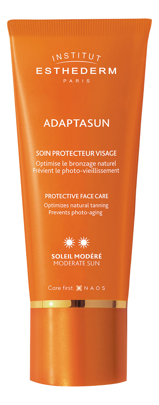 Солнцезащитный крем для лица Adaptasun Protective Face Care Moderate Sun 50мл
