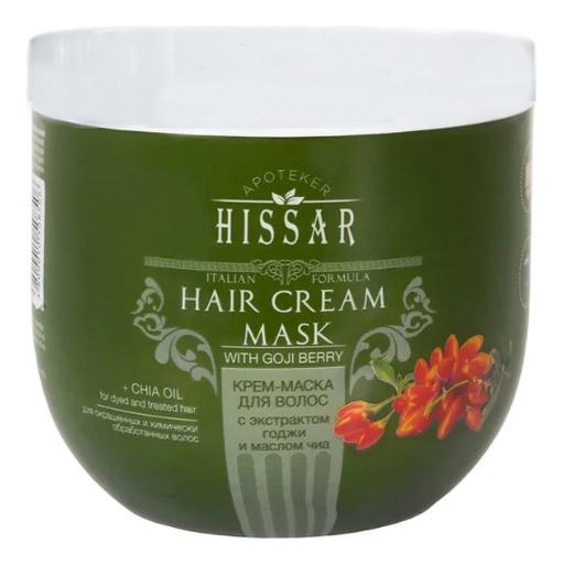 Крем-маска для волос с экстрактом годжи и маслом чиа Apoteker Hissar Hair Cream Mask: Крем-маска 1000мл