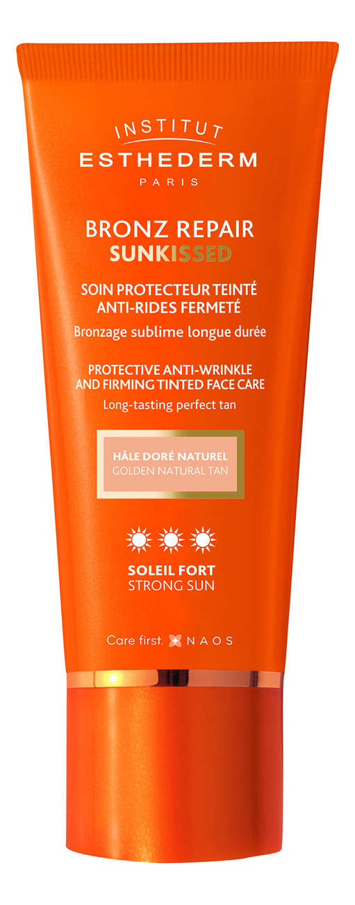 Крем для лица c оттеночным эффектом Bronz Repair Sunkissed Protective Anti-Wrinkle Firming Face Care Strong Sun 50мл