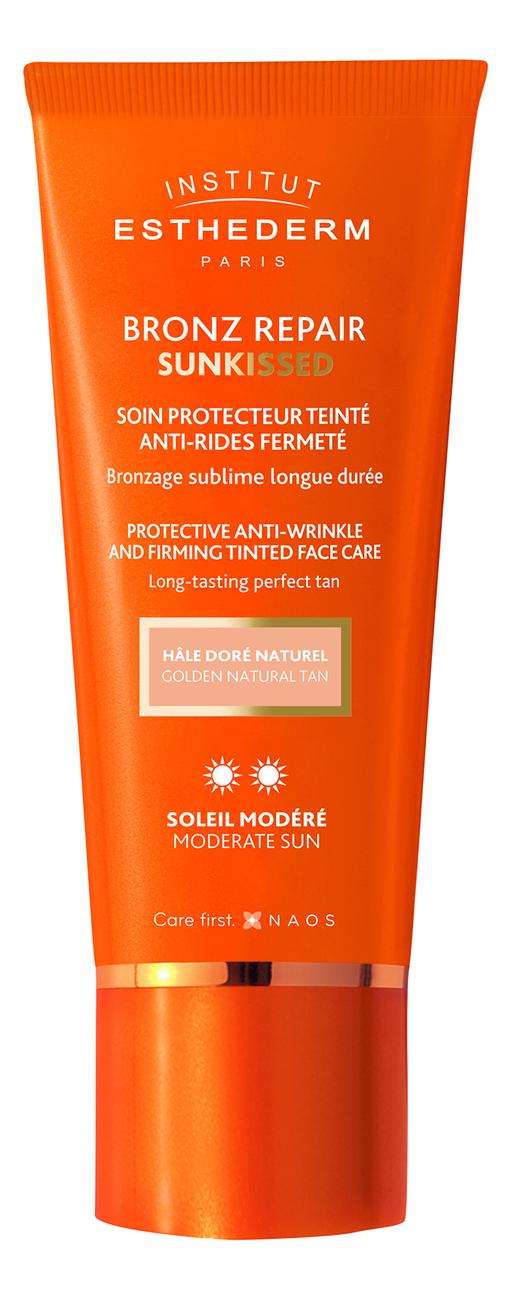 Крем для лица c оттеночным эффектом Bronz Repair Sunkissed Protective Anti-Wrinkle Firming Face Care Moderate Sun 50мл недорого