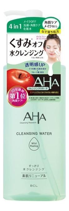 Мицеллярная вода для снятия макияжа и умывания 4 в 1 с фруктовыми кислотами AHA Cleansing Water 300мл