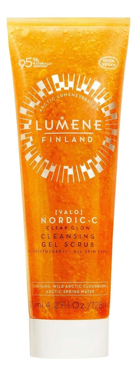 Очищающий гель-скраб для лица придающий сияние Nordic-C [Valo] 125мл l occitane cedrat очищающий гель скраб для лица