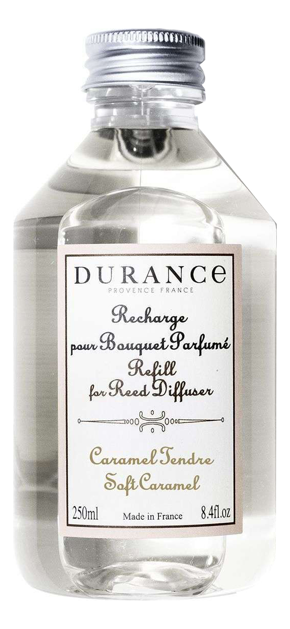 Купить Наполнитель для аромадиффузора Refill For Reed Diffuser Caramel Tendre 250мл (нежная карамель), Durance