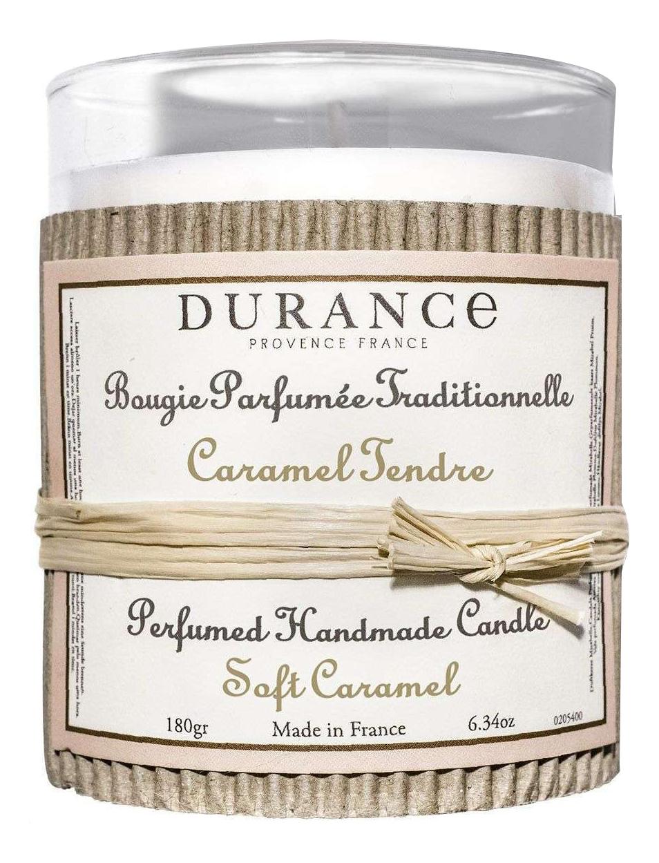 Купить Ароматическая свеча Bougie Parfumee Fraditionnelli Caramel Tendre 180мл (нежная карамель), Durance