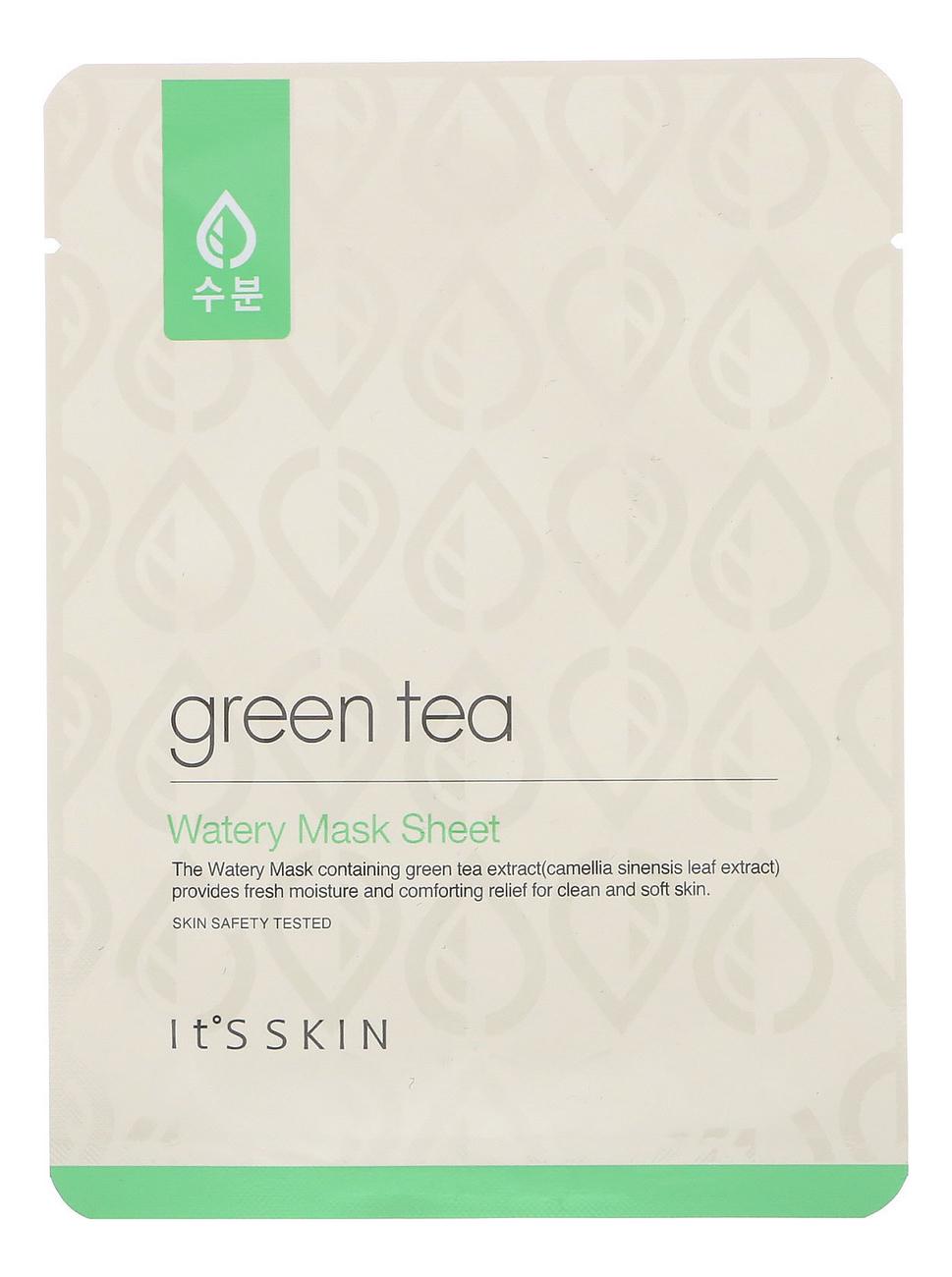 Купить Тканевая маска для лица с экстрактом зеленого чая Green Tea Watery Mask Sheet 17г, It's Skin