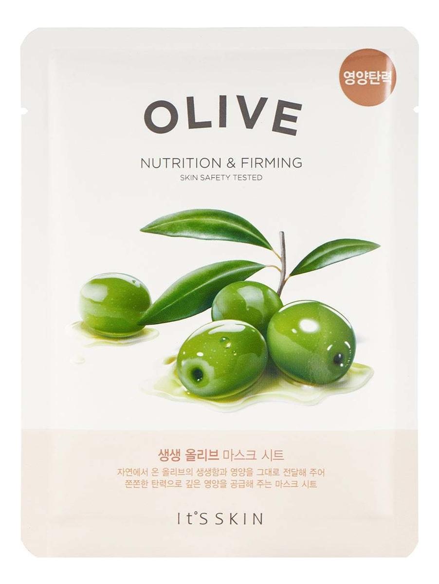 Купить Интенсивно увлажняющая тканевая маска для лица с маслом оливы The Fresh Olive Mask Sheet 22г, It's Skin